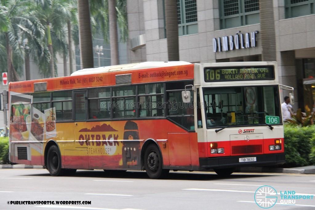 SMRT Mercedes-Benz O405 (Hispano) (TIB783G) - Service 106