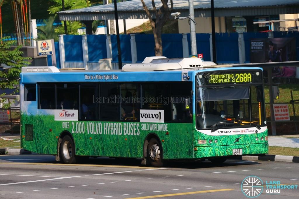 Service 268A - SBS Transit Volvo B5RLE Hybrid (SBS8002T)