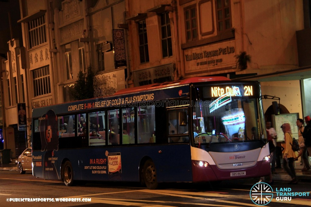 SBST Scania K230UB Euro V Batch 1 (SBS8611K) - Nite Owl 2N