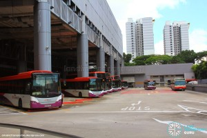 Ang Mo Kio Bus Interchange (May 2014): Bus Park