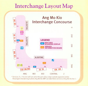 Layout of Ang Mo Kio Temporary Bus Interchange