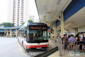 Old Bukit Panjang Bus Interchange - Bus boarding