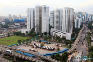 Old Bukit Panjang Bus Interchange - Overhead view