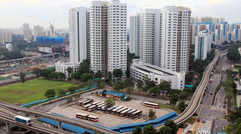 Old Bukit Panjang Bus Interchange - Overhead view