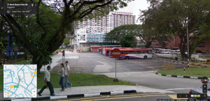 Google Street View capture of Buona Vista Bus Terminal in November 2008
