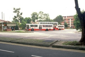 Changi Village Bus Terminal in the 1980s