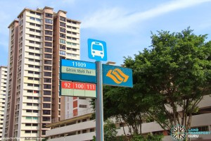Ghim Moh Bus Terminal (Bus stop pole)