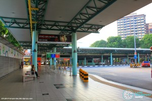 Hougang Central Bus Interchange (May 2014) - Concourse near alighting berths
