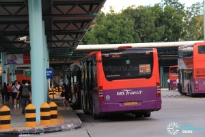 Hougang Central Bus Interchange (May 2014) - Alighting berth