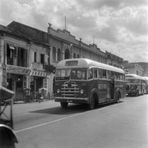Queen Street Bus Terminal in February 1956