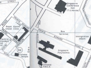 Map of Prince Edward Bus Terminal in 1972