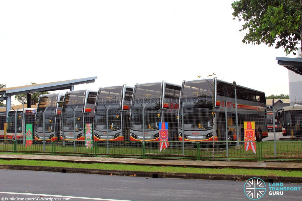 Ang Mo Kio Depot - Double-deck parking area with roof removed