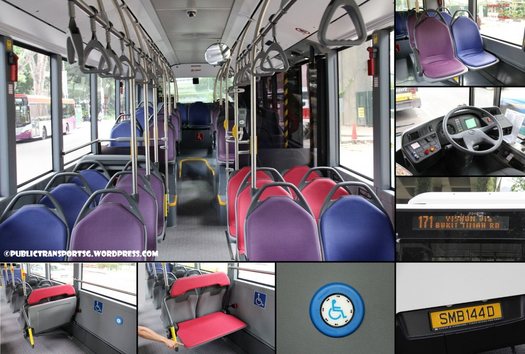 SMRT's Batch 1 Citaro Interior. Click for larger image.