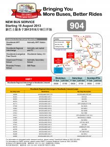 Service 904: LTA/SMRT Joint Release Poster
