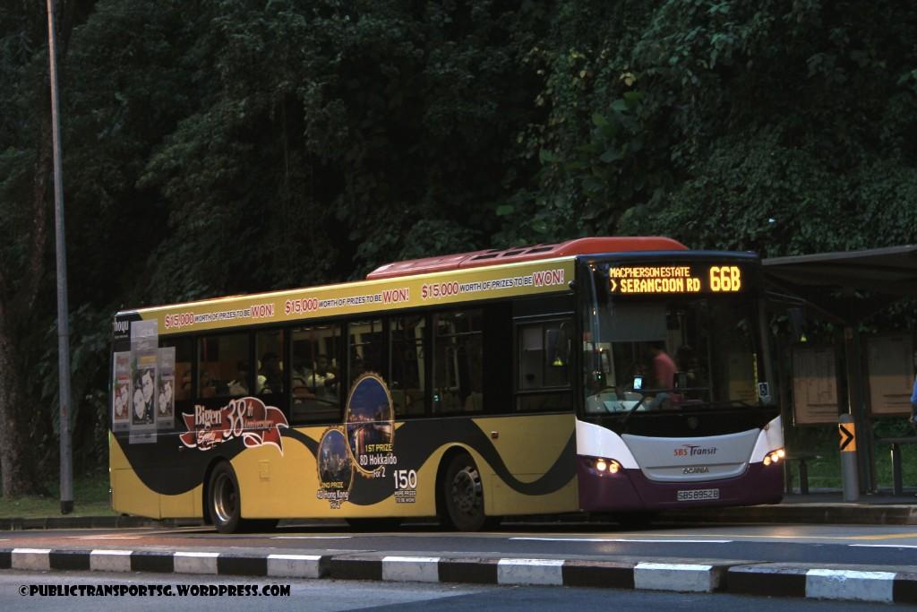 SBST Scania K230UB (SBS8952B) - Service 66B