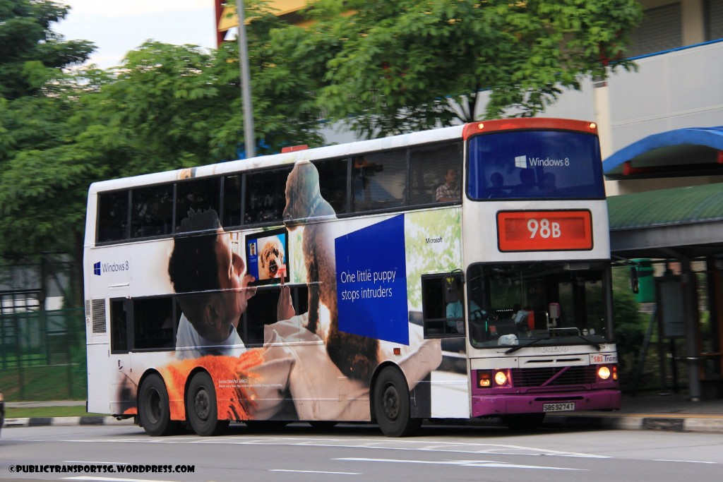 SBST Volvo Olympian 3-axle (SBS9274T) - Service 98B