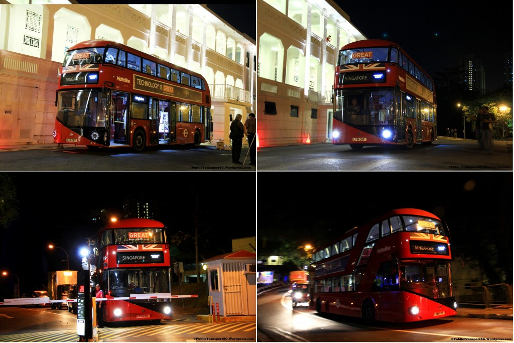 NBfL (LT3) at Gillman Barracks - Bus leaving the venue at around 9:00pm