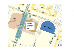 Location of Sengkang Bus Interchange Extension. Photo: LTA