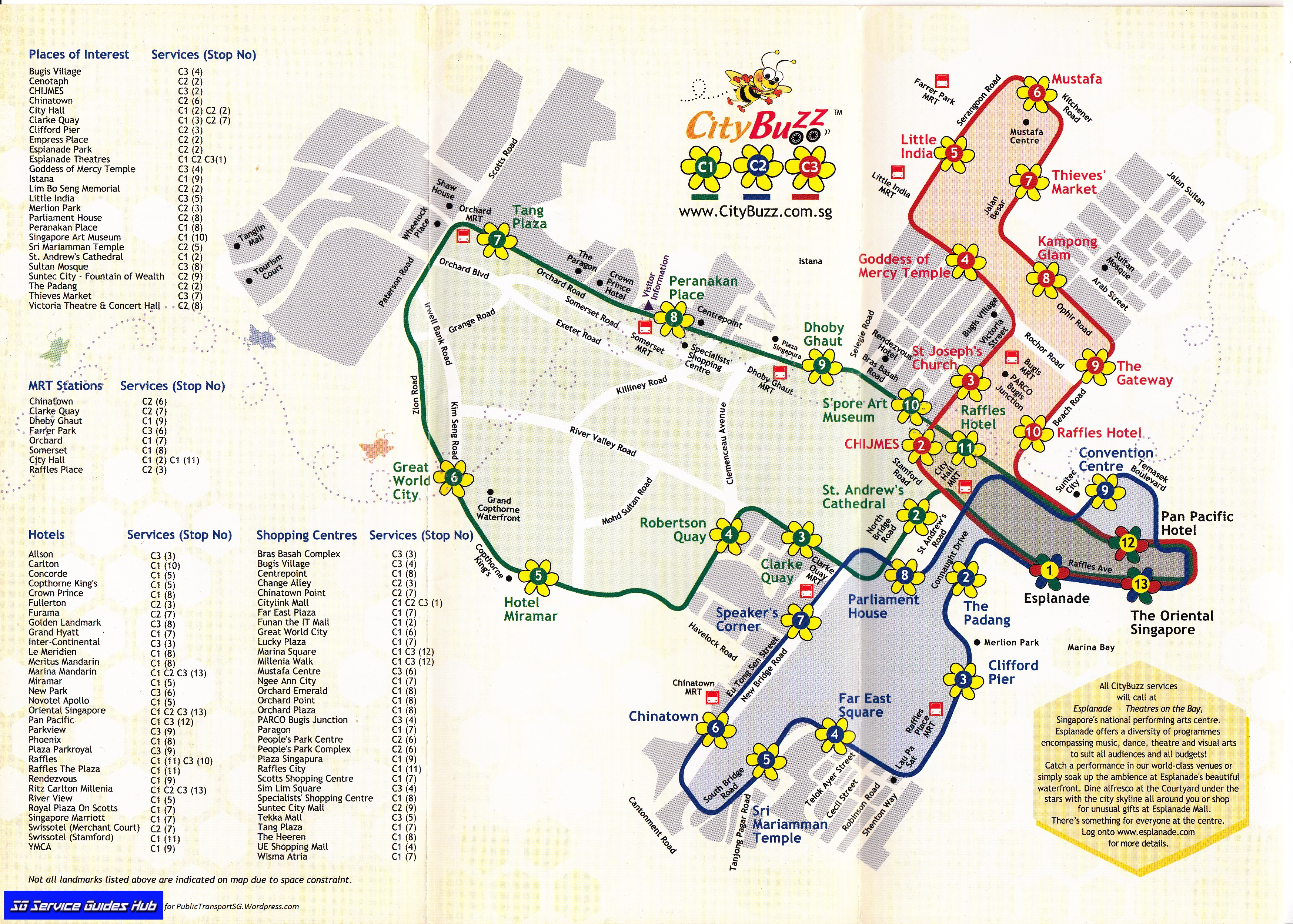 SBS Transit CityBuzz Guide Route Map