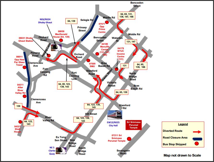 SBS Transit diversion diagram