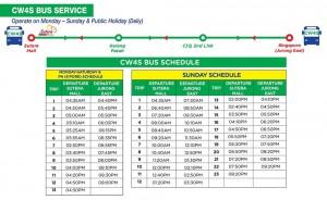 CW4S Schedule