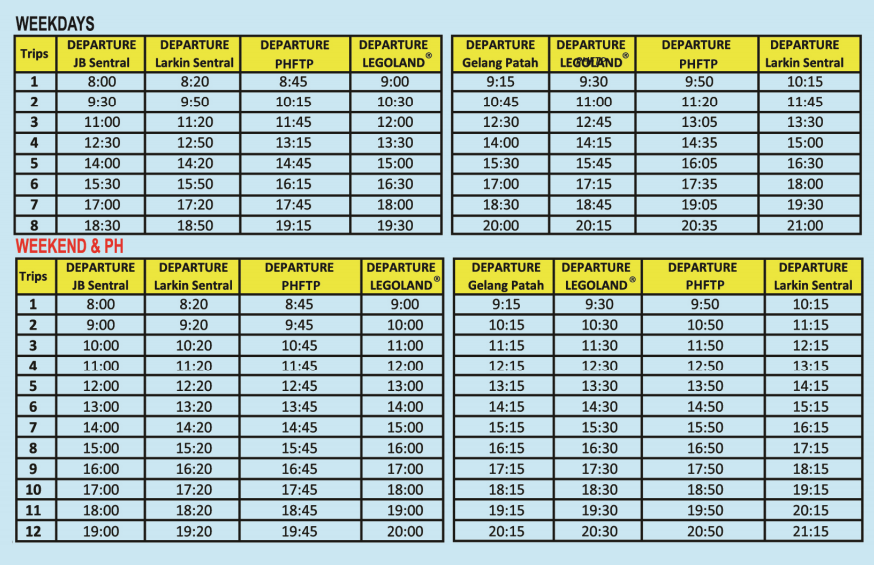 LM1 Timetable, published by Causeway Link