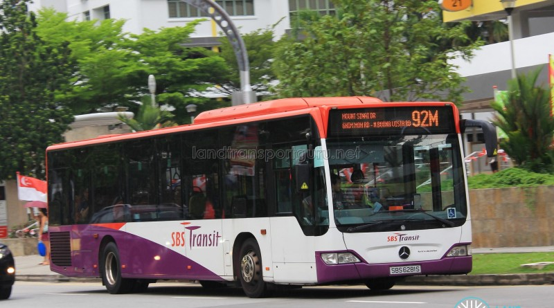 SBST Mercedes-Benz O530 Citaro (SBS6281S) - Service 92M