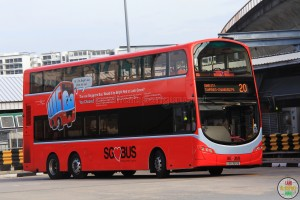 Volvo B9TL purchased under BSEP, with Lush Red Livery.