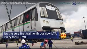 Head of C151C train (Set 702). Screengrab from LTA video.