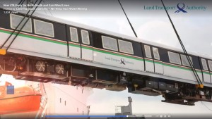 C151 train. Screengrab from LTA video.