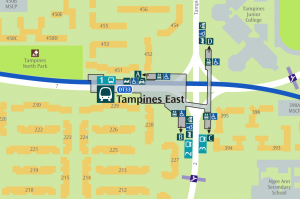 Map of Tampines East MRT Station