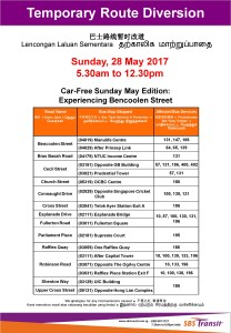 Car-Free Sunday (May 2017) Diversion Poster by SBS Transit