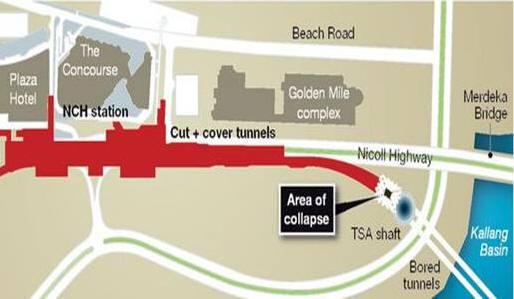 Diagram of collapse site