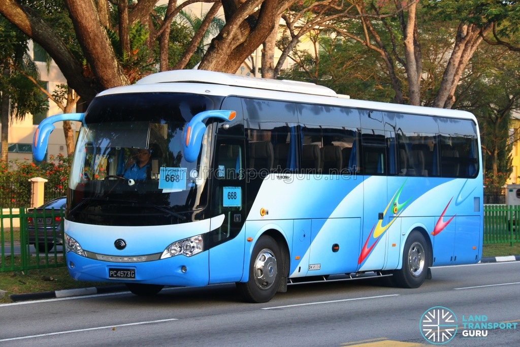BT&Tan Bus Transport Service Yutong ZK6938H (PC4573G) - City Direct 668