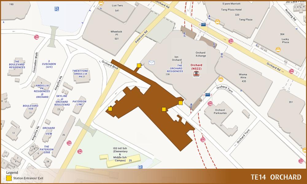 Orchard Tel Station Diagram  U2013 Land Transport Guru