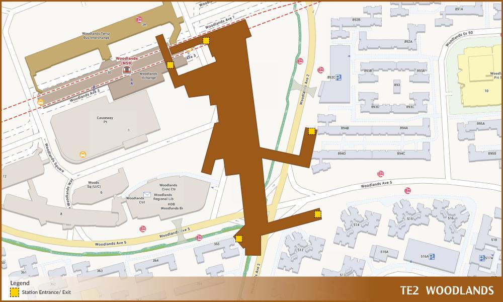 Woodlands Tel Station Diagram  U2013 Land Transport Guru