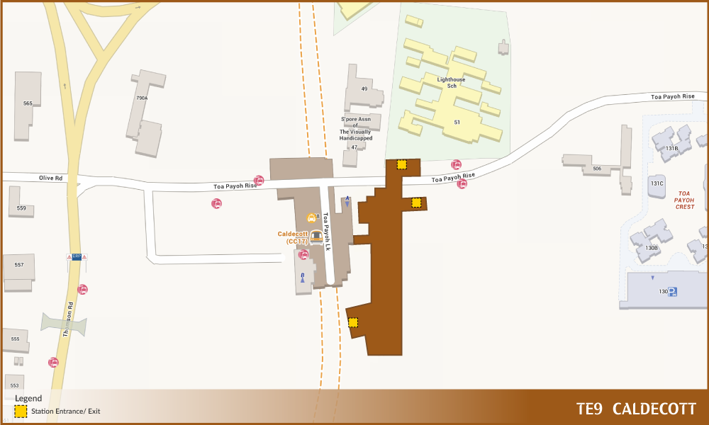 Caldecott Tel Station Diagram  U2013 Land Transport Guru