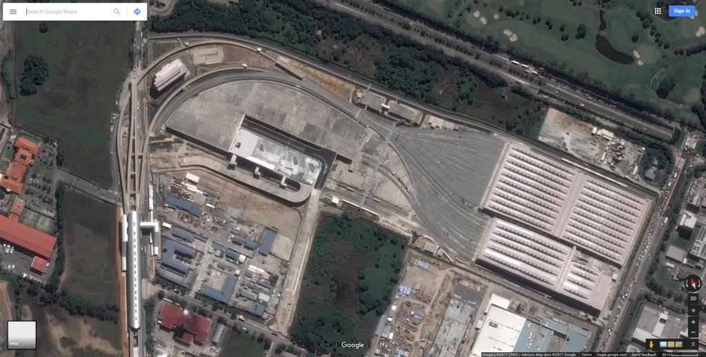 Satellite view of Tuas Depot (2017)