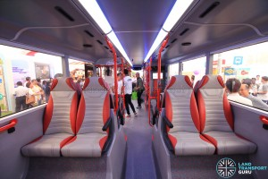 Alexander Dennis Enviro500 Concept Bus Mock-up - Lower deck seating (Reat to Front)