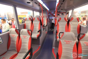 Alexander Dennis Enviro500 Concept Bus Mock-up - Lower deck seating (Middle to rear)