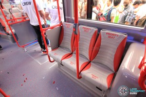 Alexander Dennis Enviro500 Concept Bus Mock-up - Priority seats