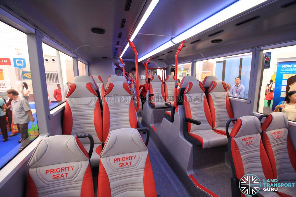 Alexander Dennis Enviro500 Concept Bus Mock-up - Lower deck seating