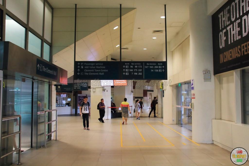 Clementi Bus Interchange - Concourse near Alighting Berth A2