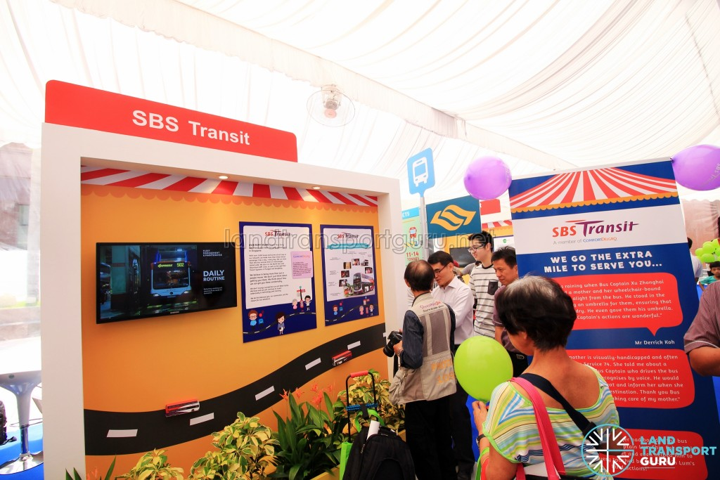 LTA Our Bus Journey Carnival - Ngee Ann City - SBS Transit booth