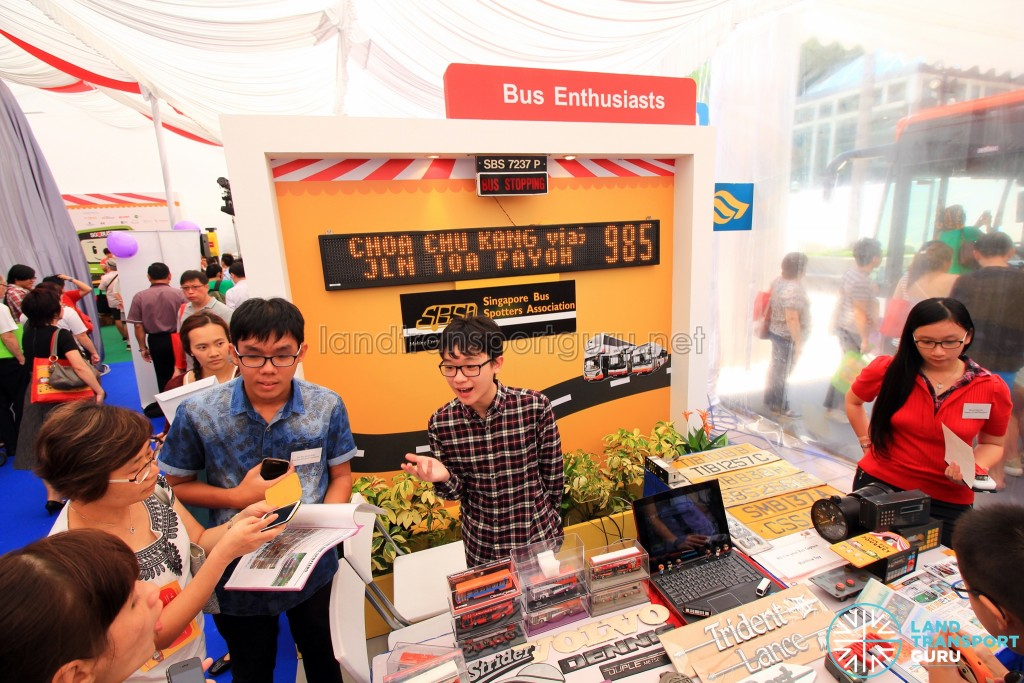 LTA Our Bus Journey Carnival - Ngee Ann City - Bus enthusiasts booth