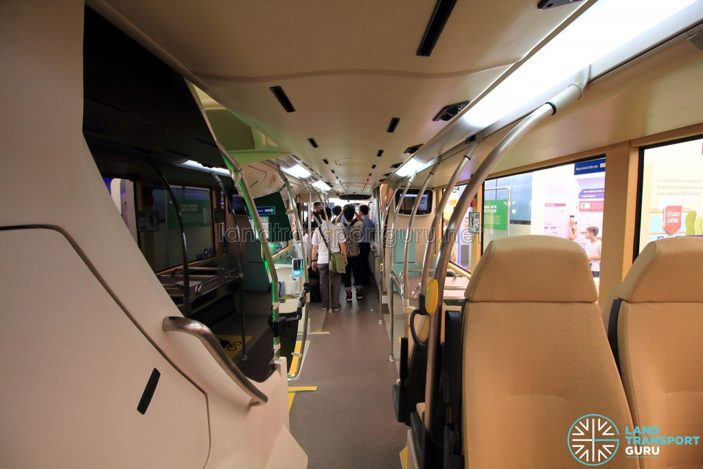 MAN Lion's City DD L Concept Bus Mock-up - Lower deck seating (Rear to Front)