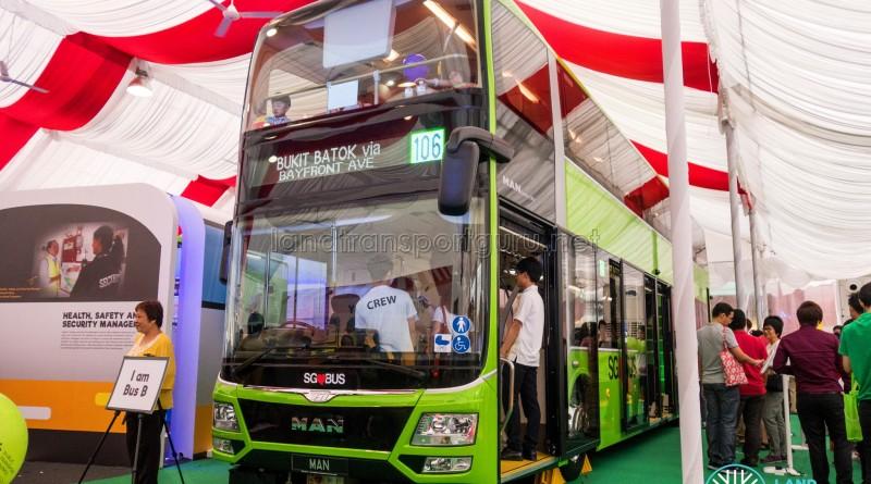 MAN Lion's City DD L Concept Bus Mock-up - Exterior front view