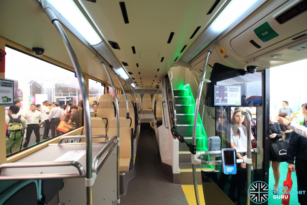 MAN Lion's City DD L Concept Bus Mock-up - Lower deck seating and rear doors