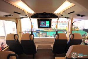 MAN Lion's City DD L Concept Bus Mock-up - Upper deck front, with Passenger Information Display System (PIDS) installed