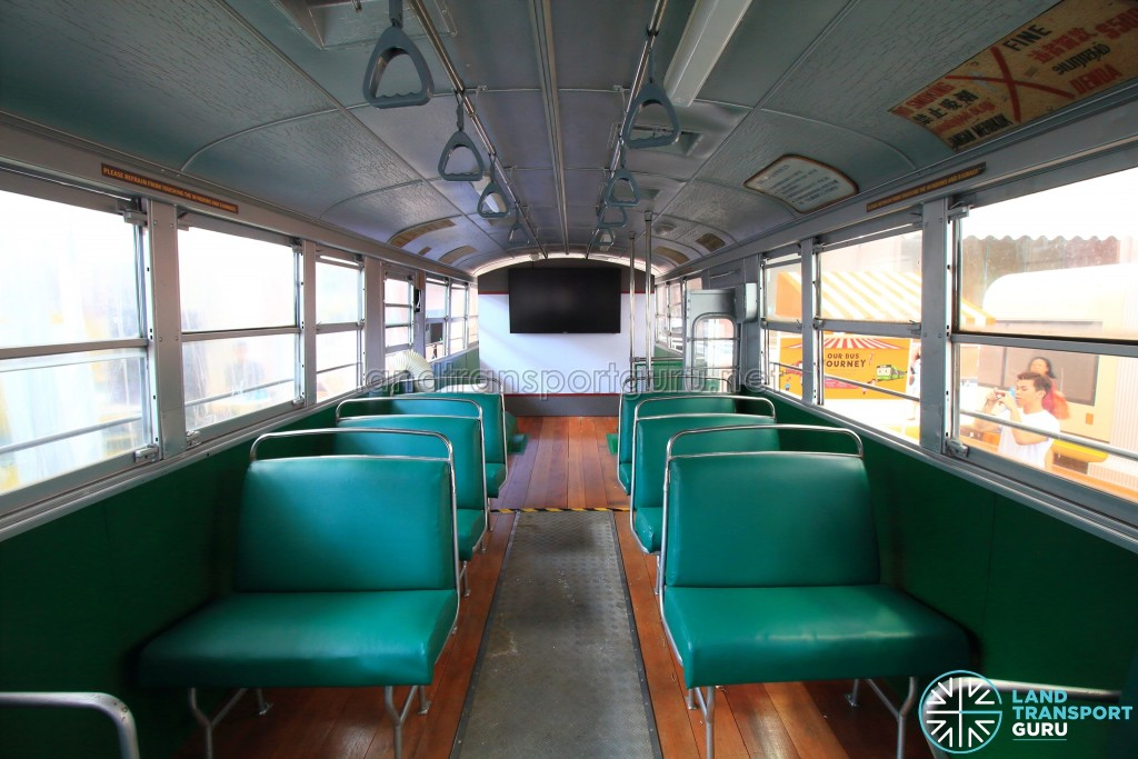 Restored Singapore Traction Company Bus - 1967 Nissan RX102K3 (STC609) - Front to rear view